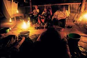 Ceremonia chamán de Ayahuasca