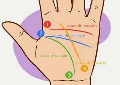 quiromancia líneas de la mano