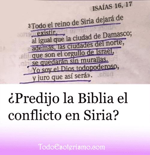 Predicción biblia