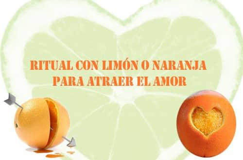 Ritual con limón o naranja para atraer el amor