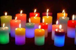 color de las velas