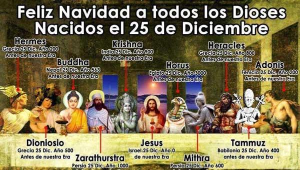 dioses 25 de diciembre