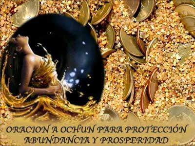 Oración a la madre OCHUN. Protección, abundancia, prosperidad.