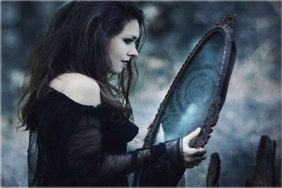 espejo mágico para ver el futuro