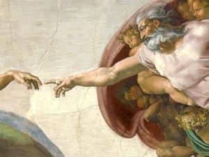 Dios de Miguel Ángel de la Capilla Sixtina