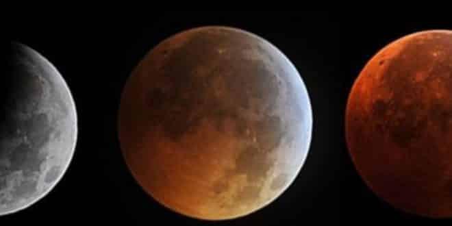 Eclipse total de Luna. Luna roja o luna de sangre. 27 de Julio
