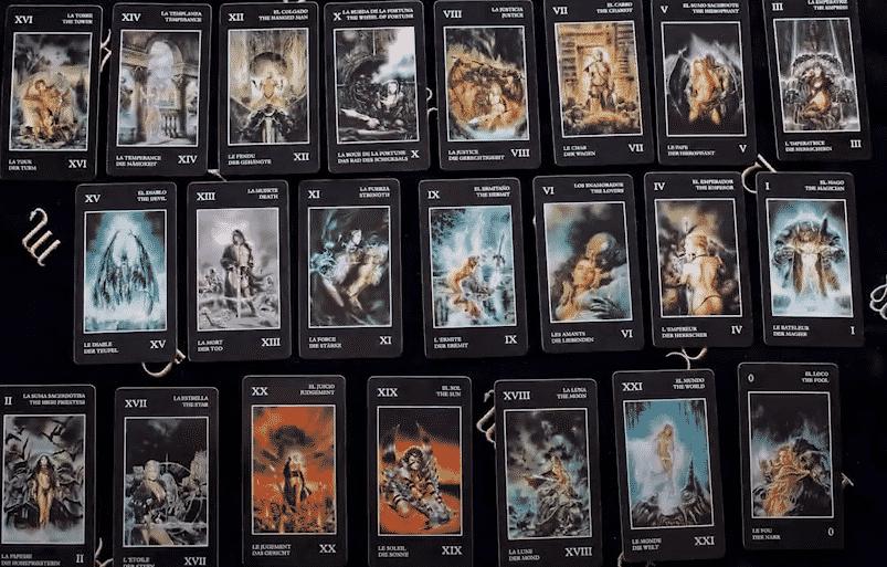 22 arcanos del tarot negro