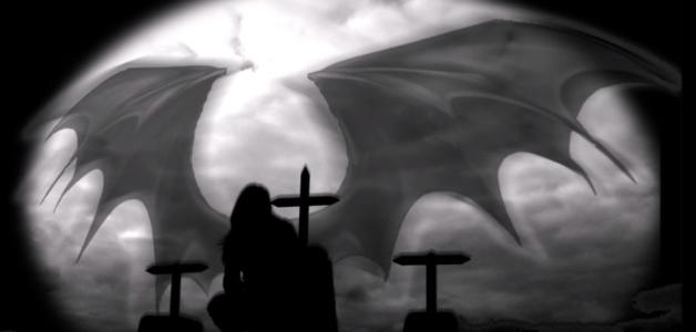Exu Morcego con la luna