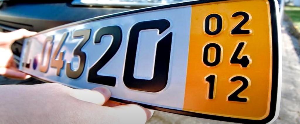 Numerología de la placa del coche