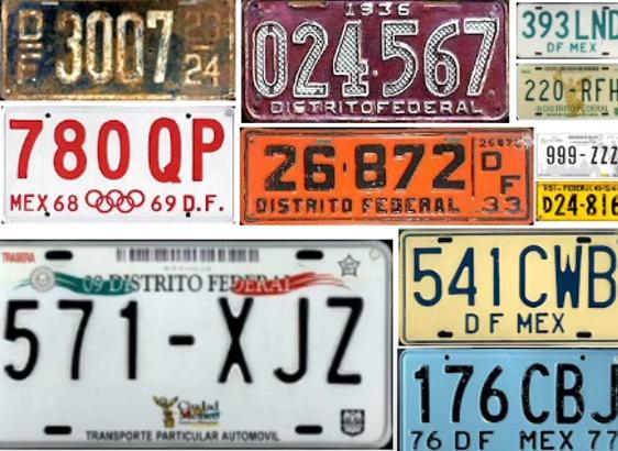 placas de México